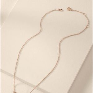 Stella & Dot rose gold necklace chain